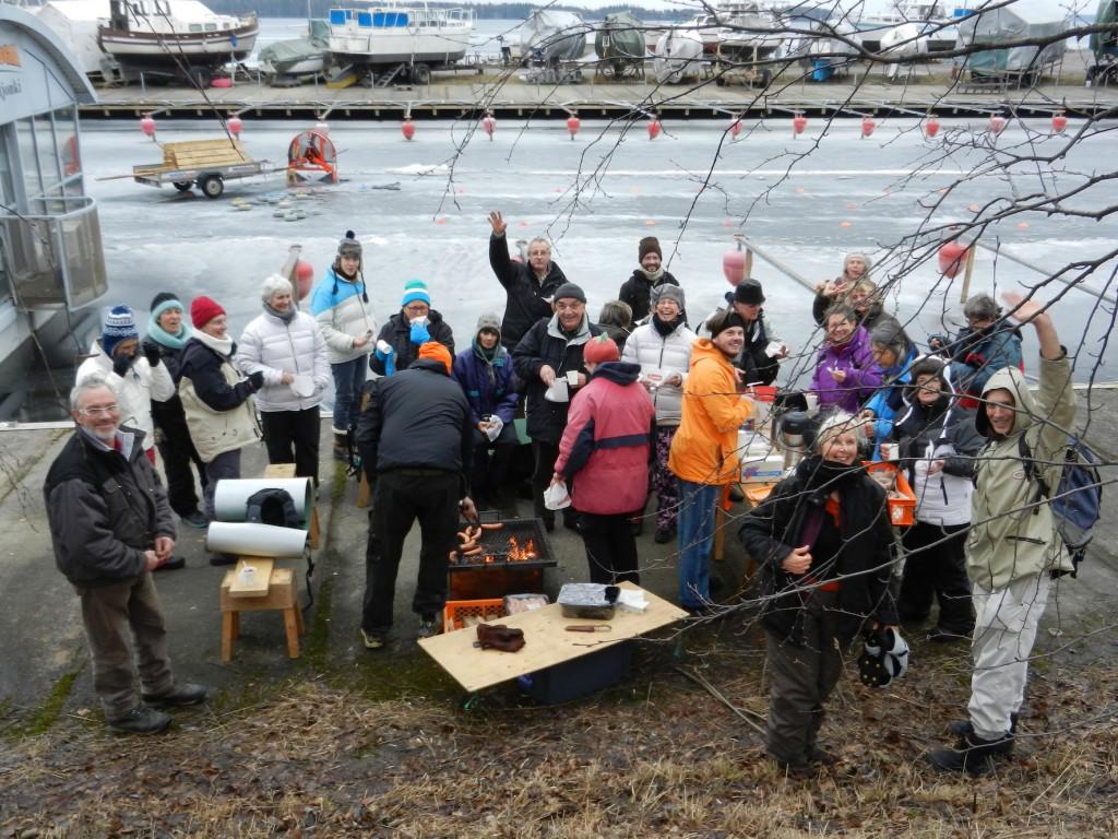 Le Chœur de chambre en voyage à Tampere, (lac Näsijärvi) Finlande, février 2014