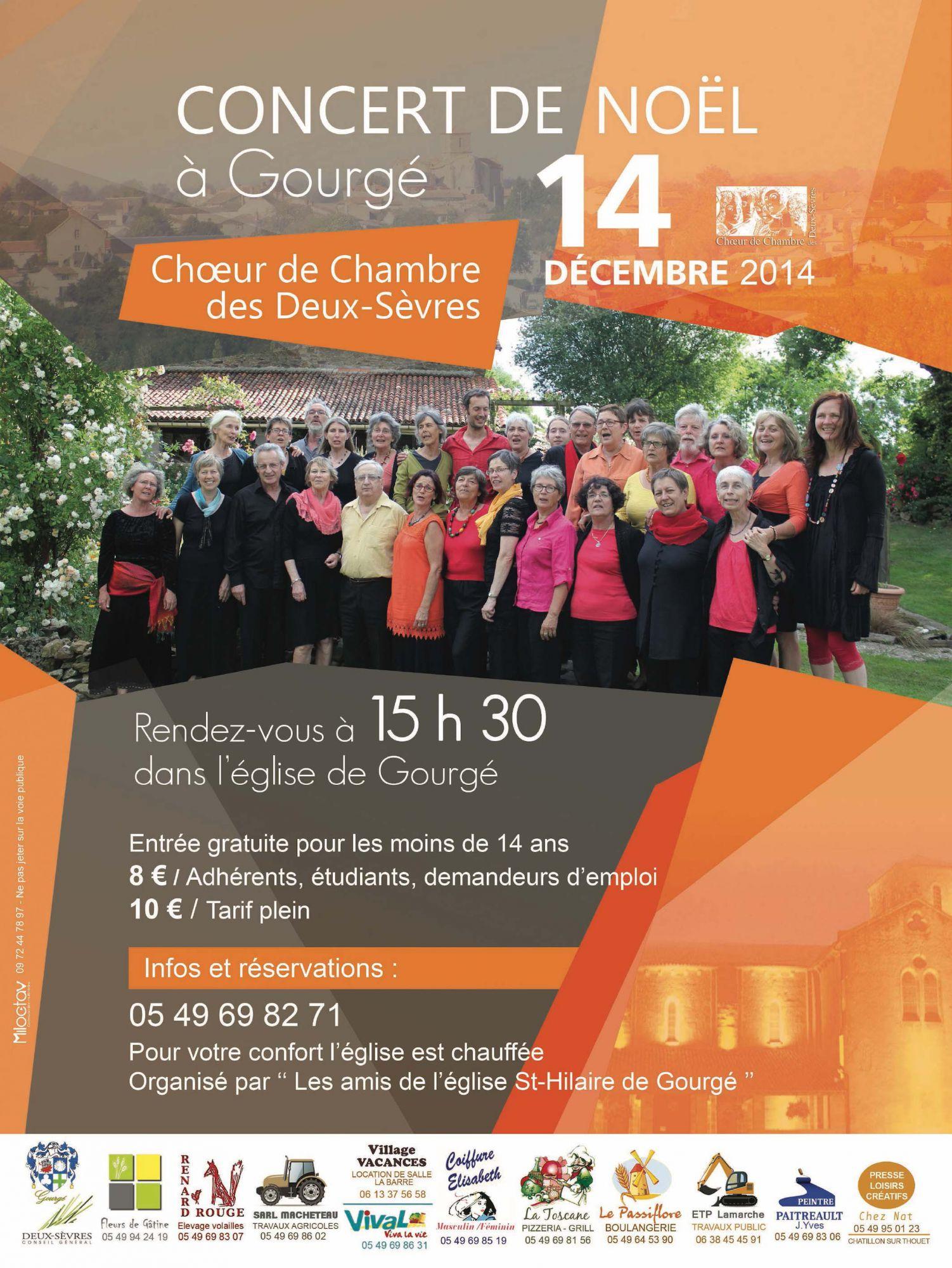 Affiche Gourgé concert noel 2014