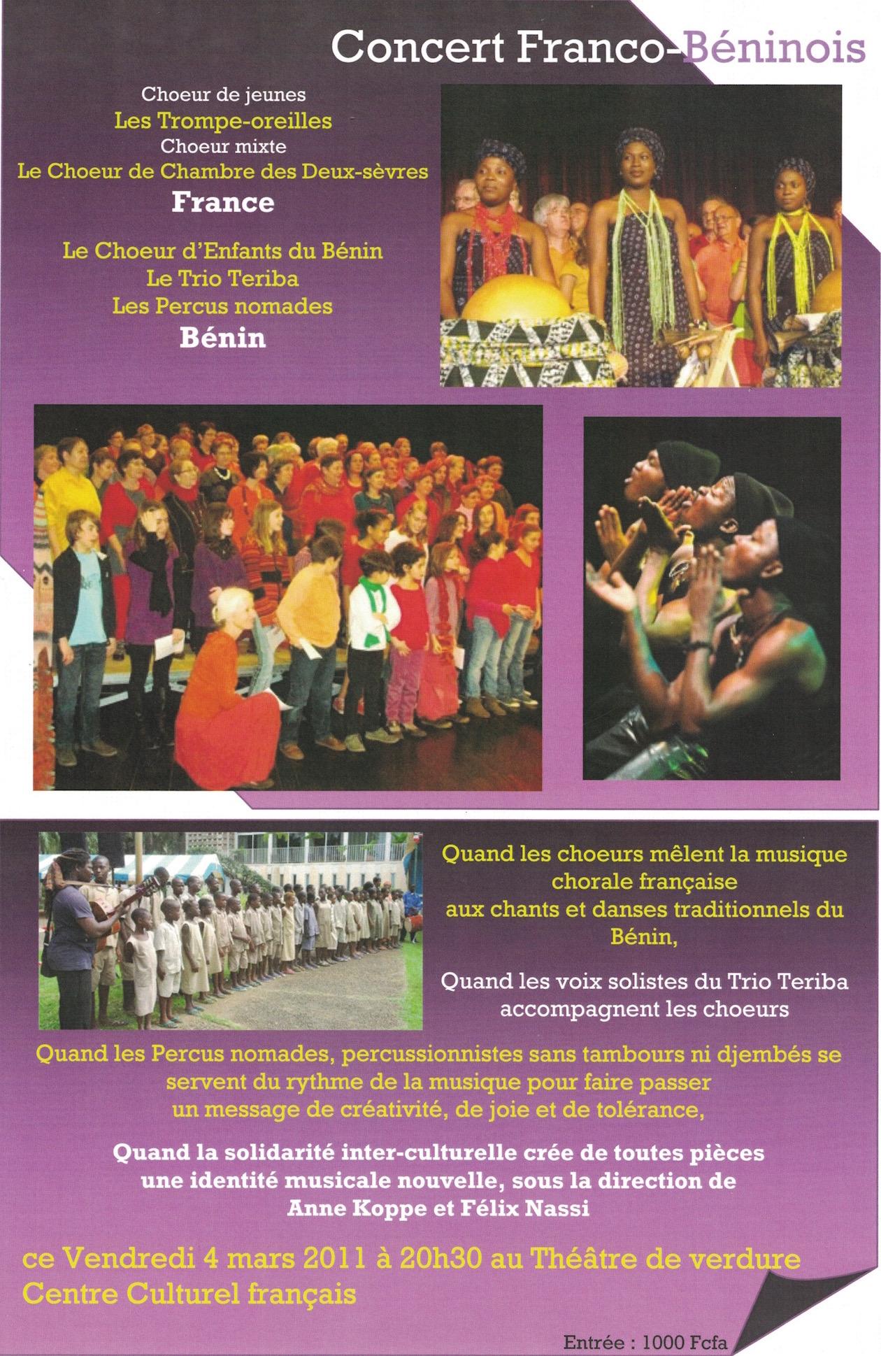 Concert CCF Cotonou 2011