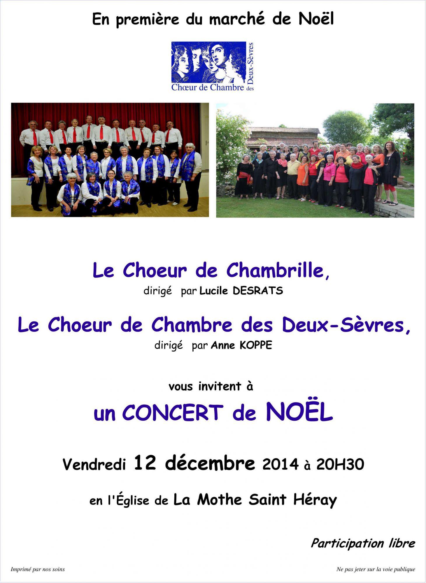 Concert Choeur de Chambrille