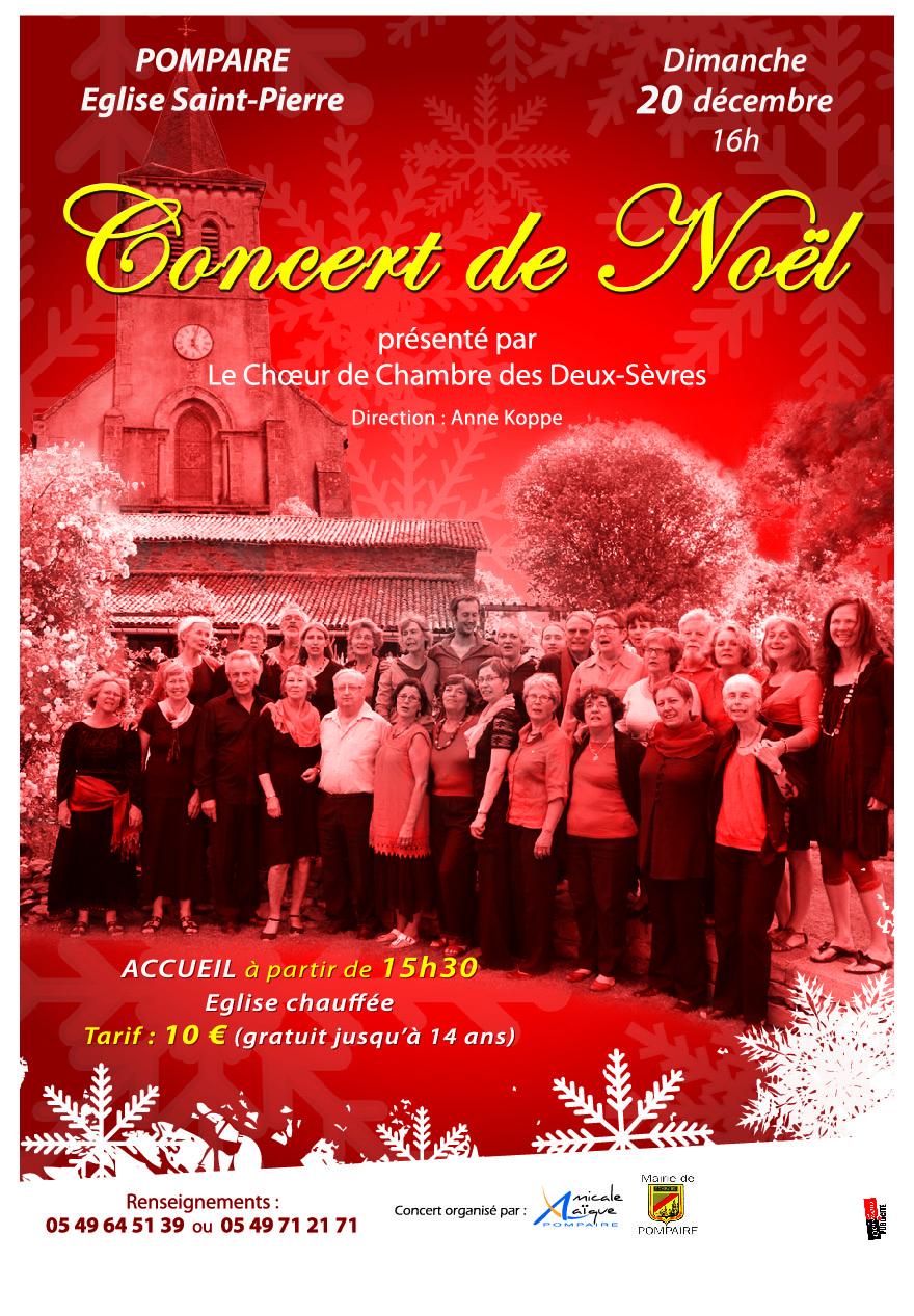 Concert de Noel Pompaire  2015   décembre 2015