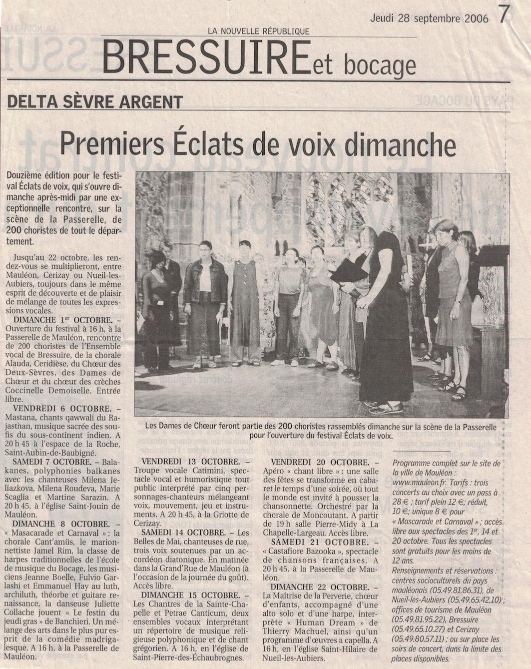 Eclats de Voix 2006 1
