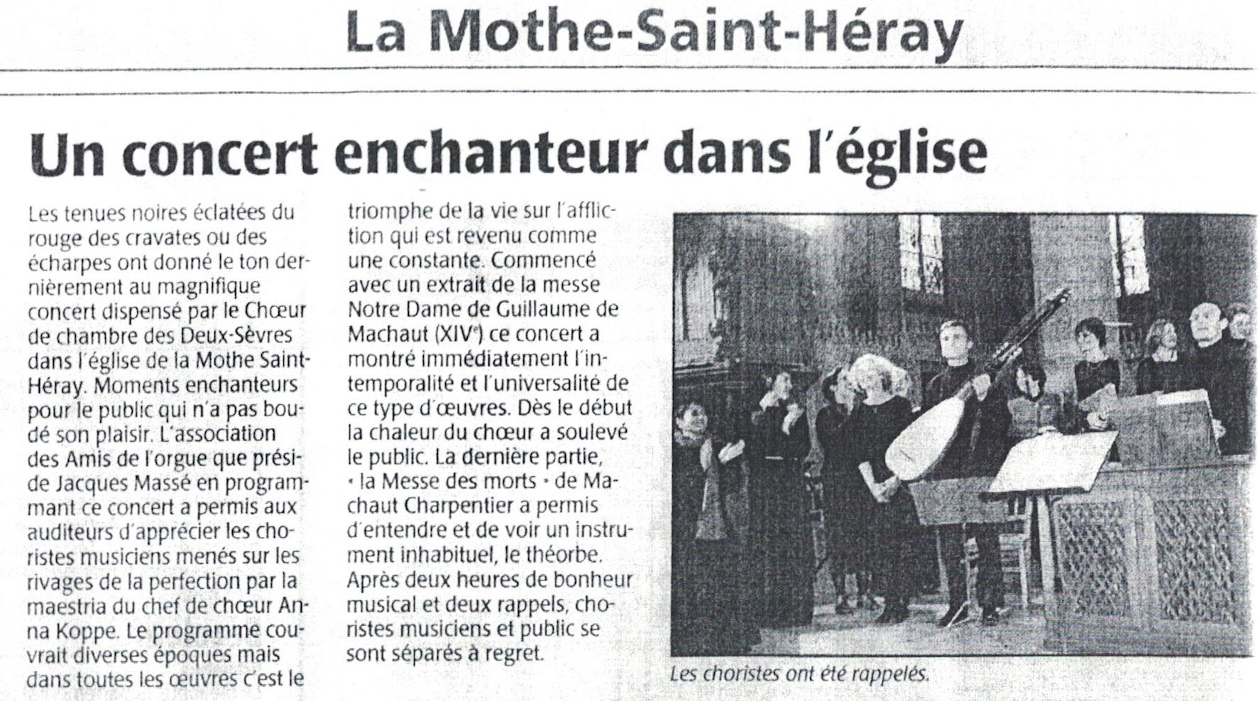 La Mothe St-Héray 2003