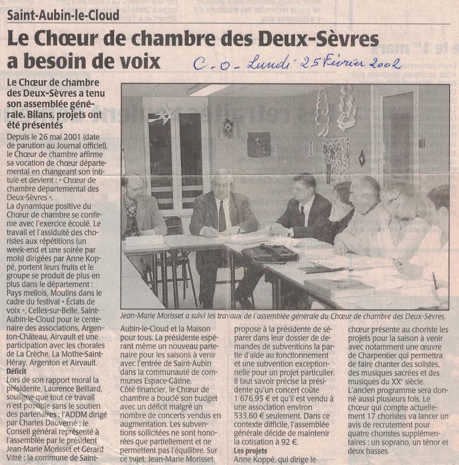 Le chch recrute 2002