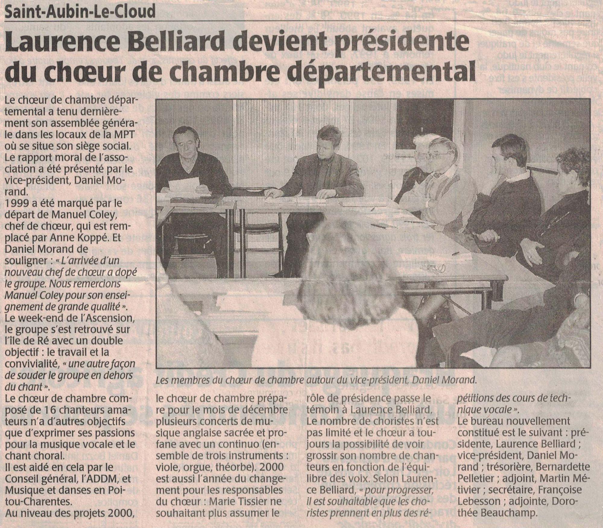 Présidente du Ch de chambre 2000