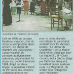 Projets concerts 2002