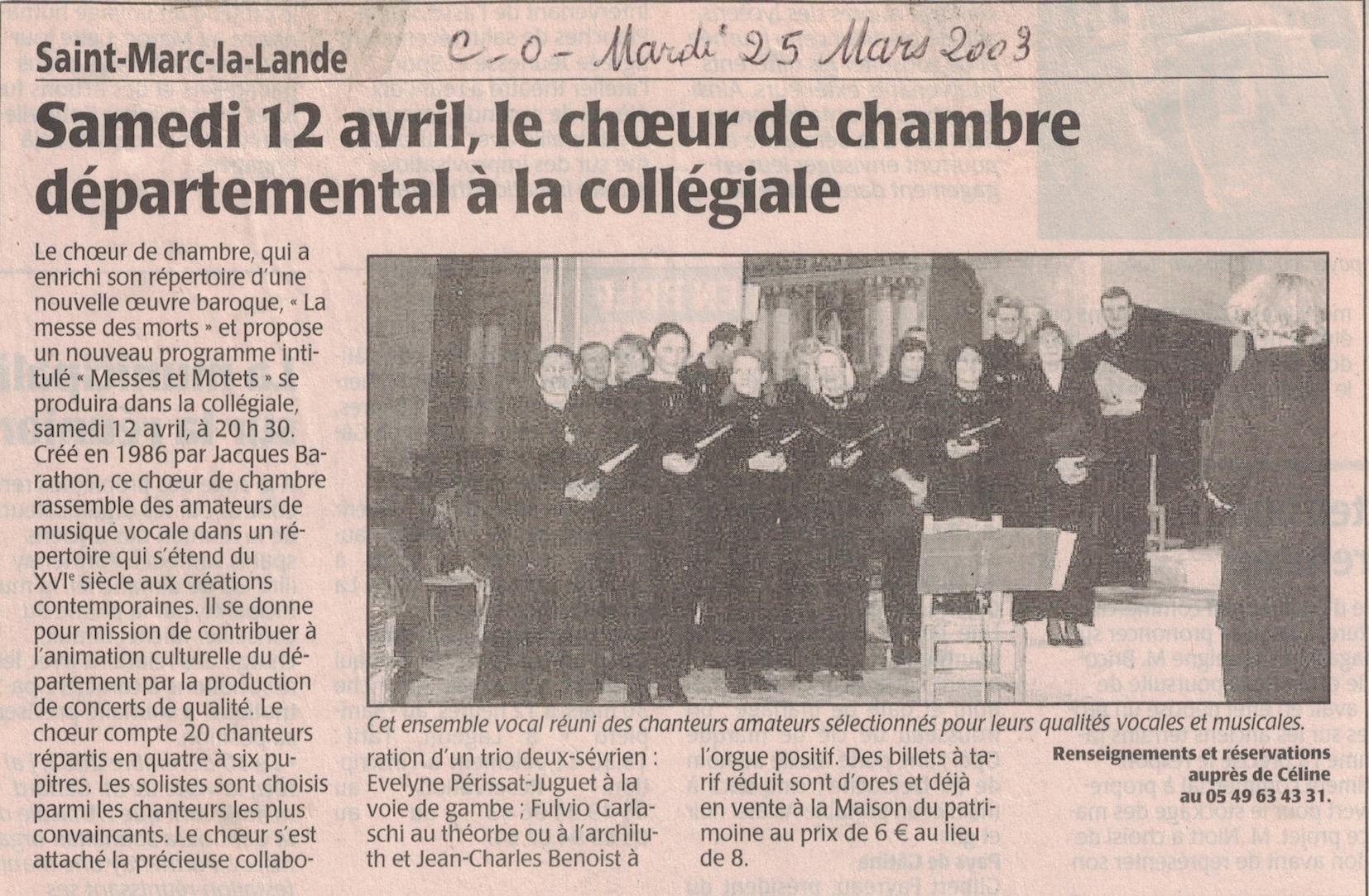 Saint-Marc-la-Lande, mars 2003 1