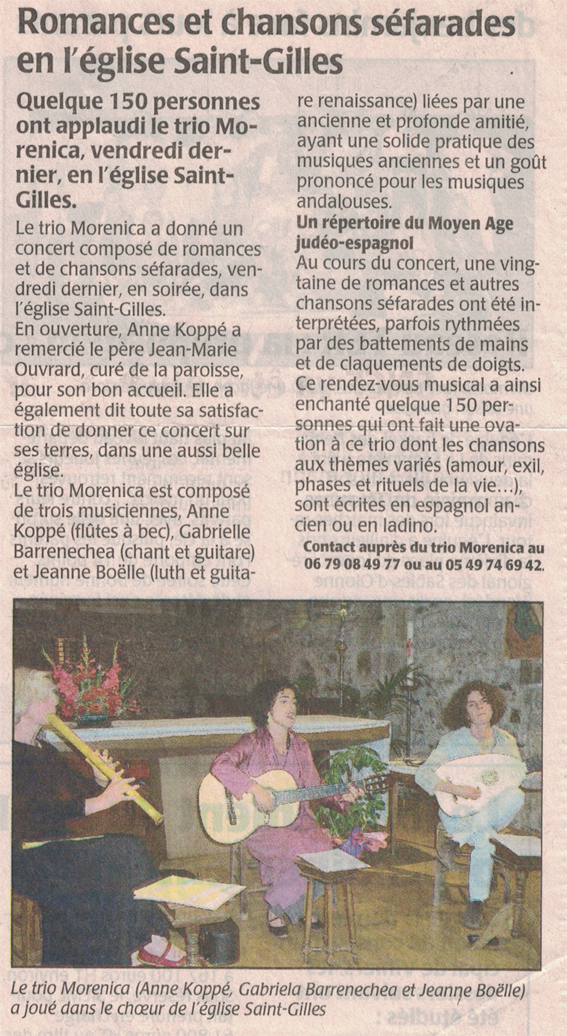 Chansons séfarades, Airvault 2007
