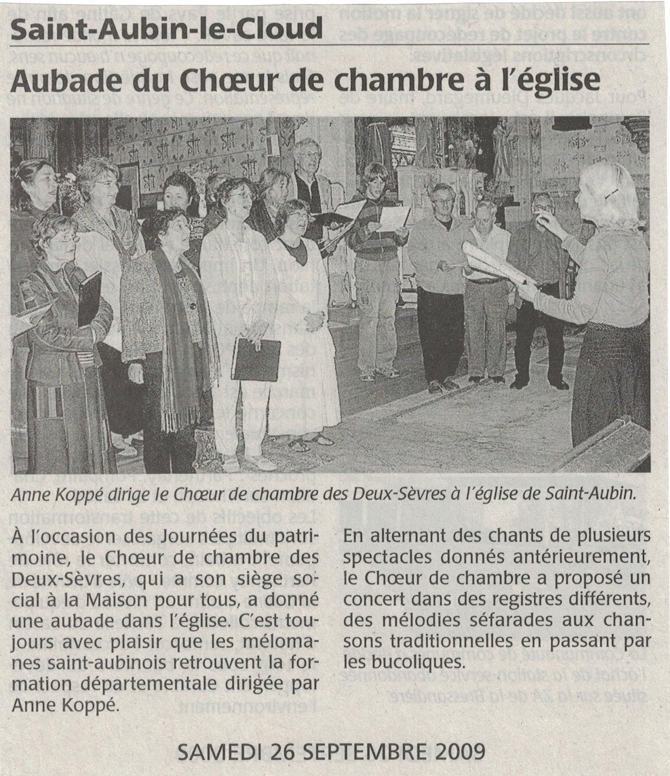 CO, Aubade à St-Aubin 2009