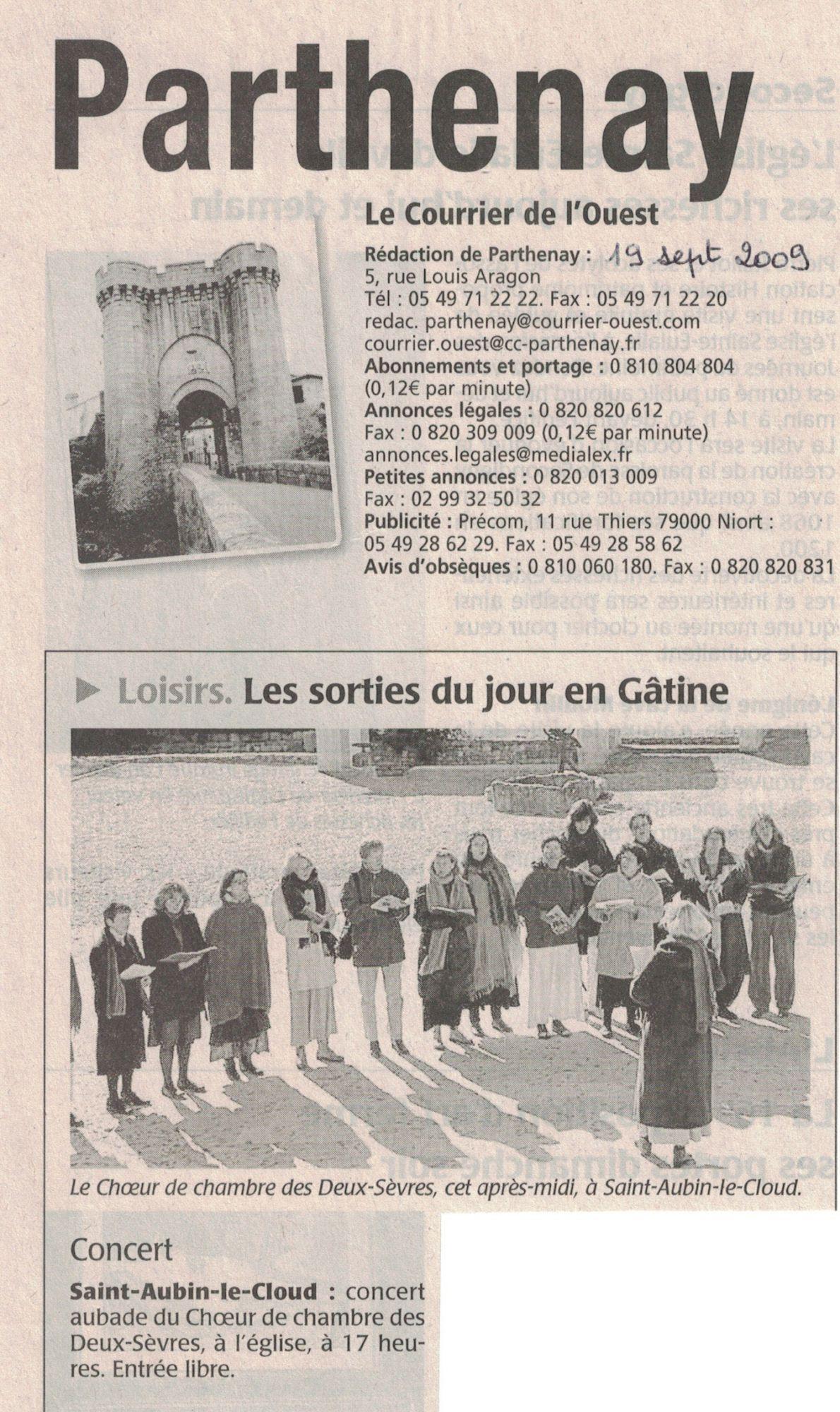 Concert St-Aubin 2009