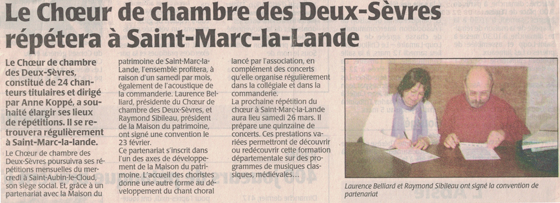Convention St-Marc-la-Lande