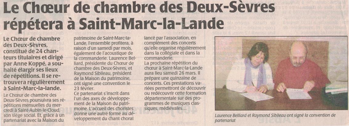 Convention St-Marc-la-Lande