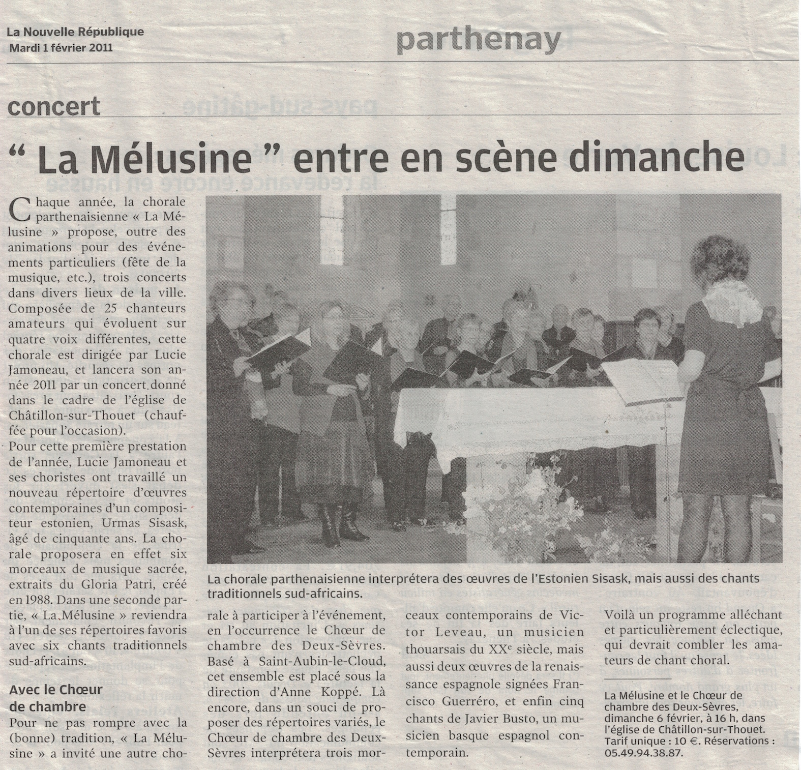 NR Concert Melusine:chch 2011