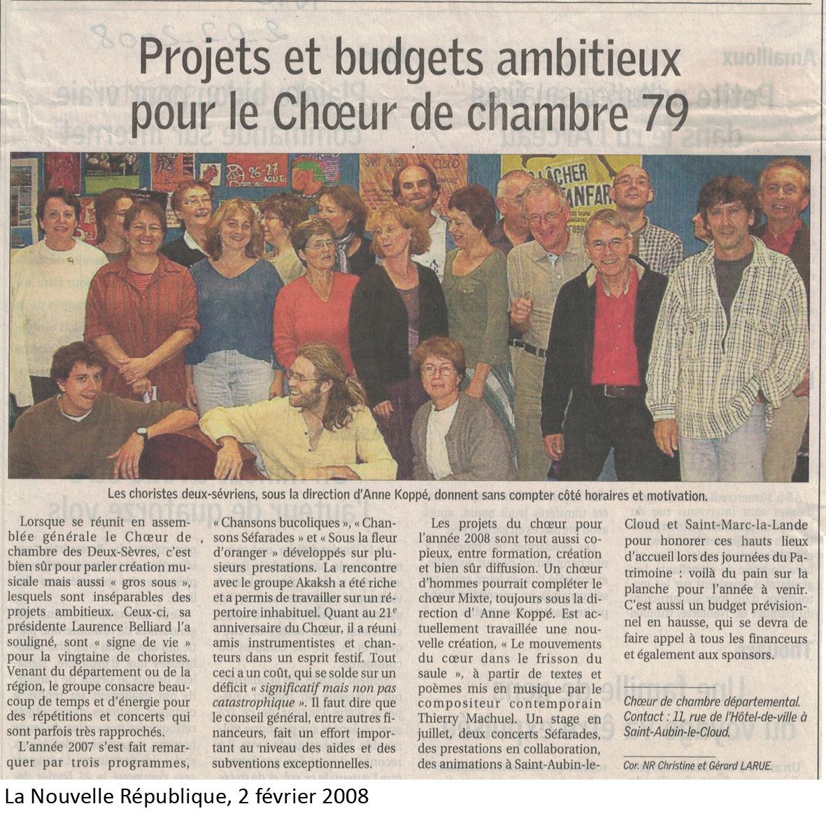 Projets 2008