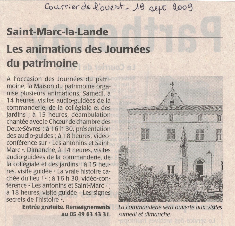 St-Marc la Lande, patrimone 2009