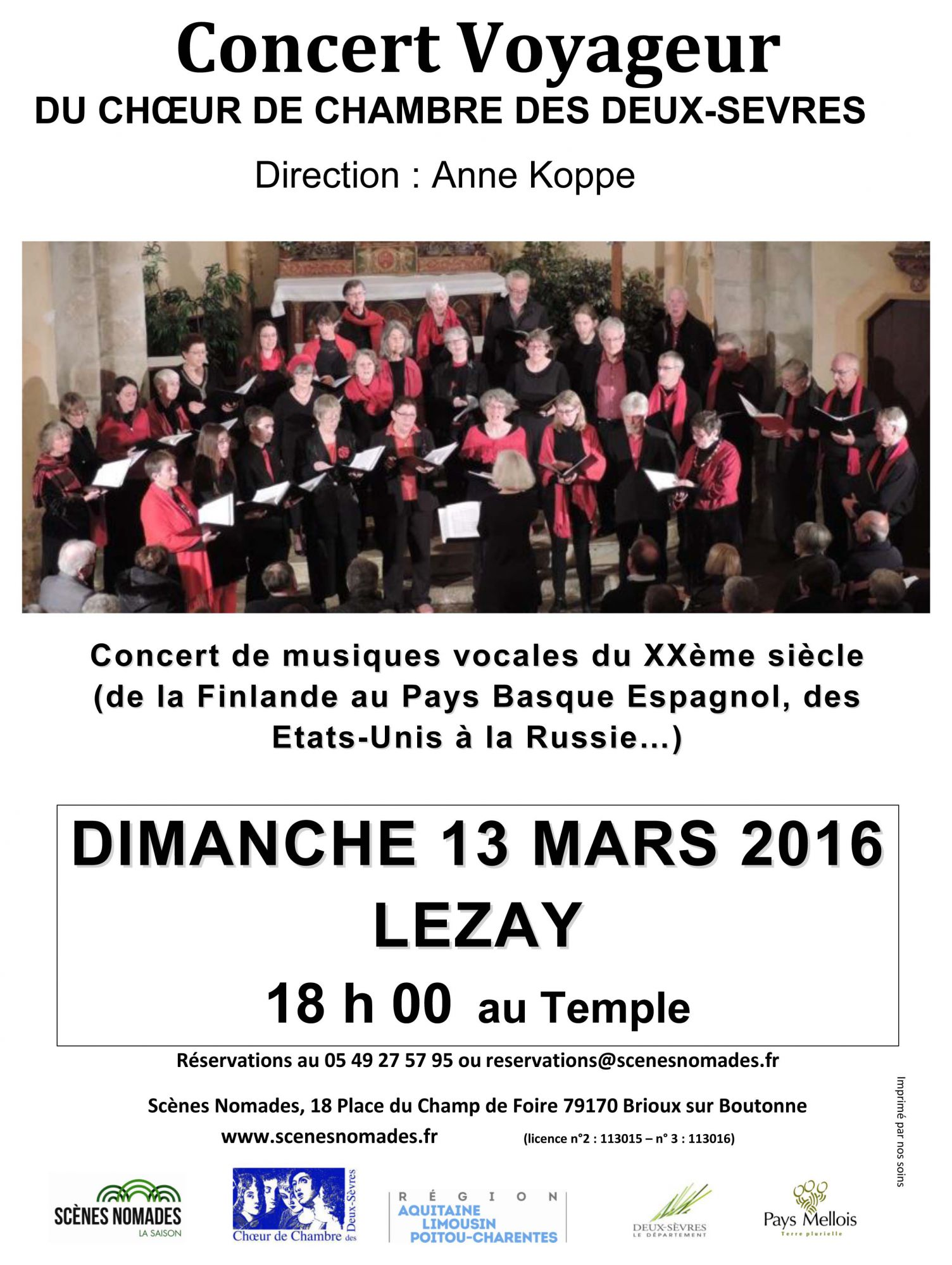 Concert voyageur, Lezay mars 2016